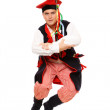 Polish man in a traditional outfit — Stock Photo