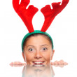 Happy reindeer — Stock Photo