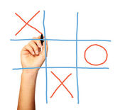 Noughts and crosses — Stock Photo
