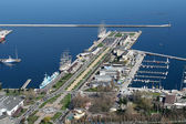 Gdynia city port — Stock Photo