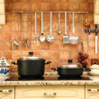 Beautiful new kitchen - Stock Photo