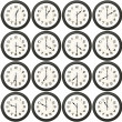 24 clocks every half hour — Stock fotografie #4634152