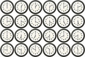 24 clocks every half hour — Stock Photo
