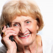 Senior lady with cell phone — Stock Photo #4647850