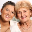 Grandma and grandaughter — Stock Photo