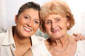 Grandma and grandaughter — Stock Photo