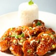 Sesame chicken with rice — Stock Photo #4942703
