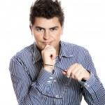 Successful confident businessman — Stock Photo