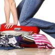 Problematic suitcase — Stock Photo