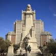 Don Quixote monument in Madrid — Stock Photo