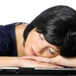 Sleeping businesswoman — Stock Photo