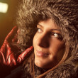 Portrait of a hooded woman — Stock Photo #5195160