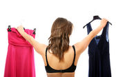 Which dress to choose? — Stock Photo