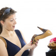Shopping for shoes — Stock Photo