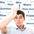 Man with questions — Stock Photo #5344358
