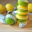 Fruit a lemon and лайм — Stockfoto