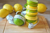 Fruit a lemon and лайм — Stock Photo