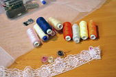 Accessories to sewing — Stok fotoğraf