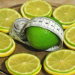 Stock Photo: Lemon and лайм help to dump excess weight