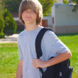 Teen boy with Backpack — Foto de stock #4099921