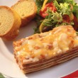 Lasagna on a dinner plate — Stock Photo #3927879