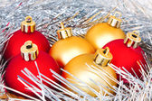 Red and gold balls — Stock Photo
