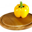 Pepper on cutting board — Stock Photo