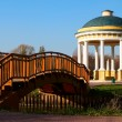Stock Photo: Gazebo and bridge