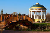 Gazebo and bridge — Stock Photo
