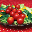 Stockfoto: Vegetables on platter