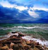 STORMY SEA LANDSCAPE — Stockfoto