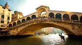 Detail of Rialto bridge in Venice — Stock Photo