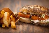 Chicken nuggets sandwich — Stock Photo