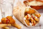 Crispy potato soft taco — Stock Photo