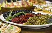Olives and Tomatoes — Stock Photo