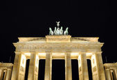 Brandenburger Tor in Berlin at night — Stock Photo