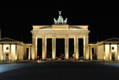 Brandenburger Tor at night - middle position — Stock Photo