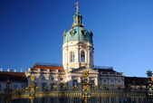 Schloss Charlottenburg in Berlin with blue sky - left side — Stock Photo