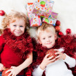 Stock Photo: Adorable kids happy new year