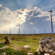 Wind turbine landscape - Stock Photo