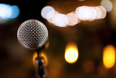 Microphone detail background — Stock Photo