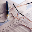 Financial and statistical background - Stockfoto