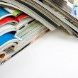 Several magazines and books — Stock Photo