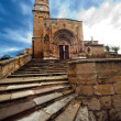 Stone stairs to a old church - Stock Photo