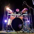 Drum on stage — Stock Photo