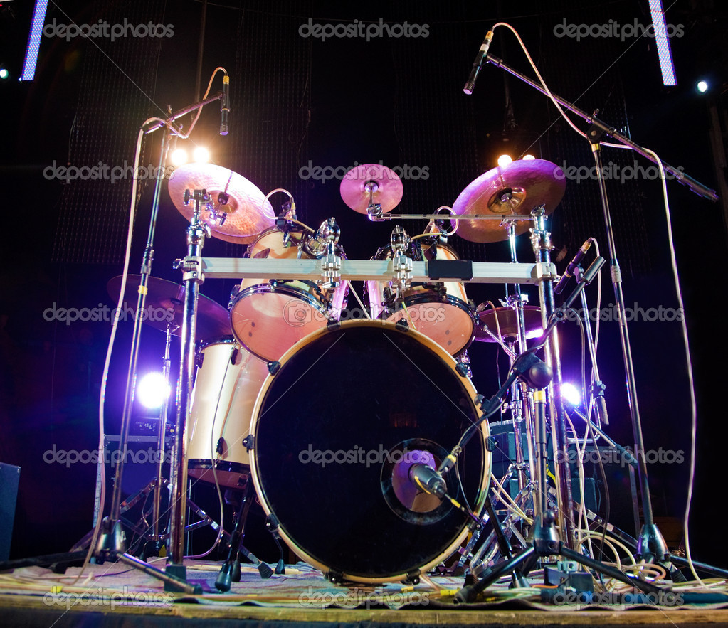 Close up image of drum on stage — Stock Photo #4496624