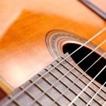 Spanish guitar detail — Stock Photo