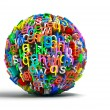 Colored ball letters — Stock Photo