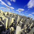 3d cityscape — Stock Photo