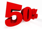 3d fifty percent — Stock Photo